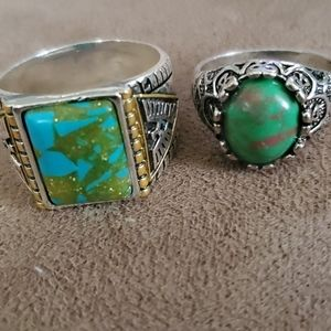 Lot of 2 turquoise rings